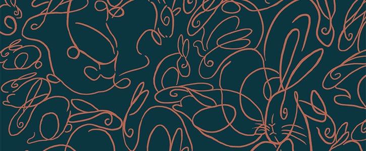 Detail from the slipcase design for The Velveteen Rabbit, The Folio Society