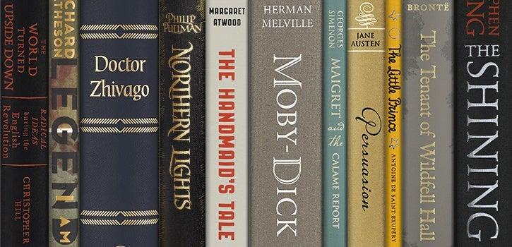 Folio book spines