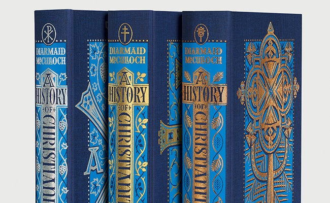A History of Christianity book spines, The Folio Society 2020