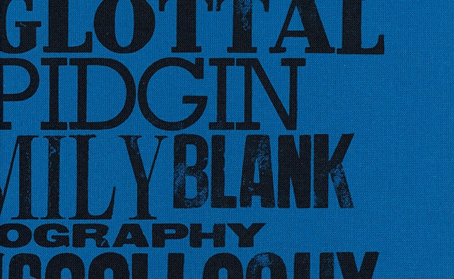 Typography detail from the front cover design of The Stories of English, The Folio Society 2020