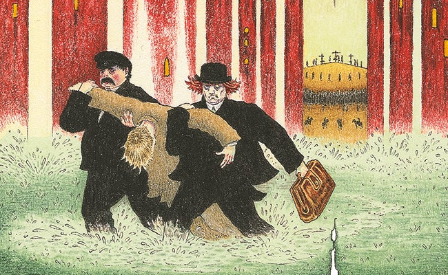 Illustration from The Master and Margarita by Peter Suart, for The Folio Society edition