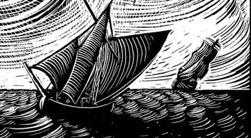 Illustration for Hornblower set, by Joe McLaren