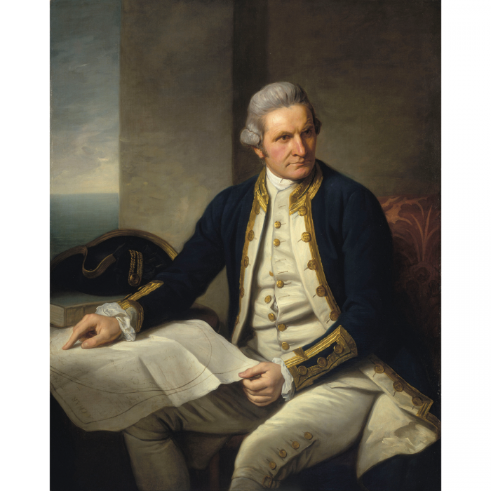 Captain James Cook. Oil painting by Nathaniel Dance, 1775-6. (© National Maritime Museum, Greenwich, London, Greenwich Hospital Collection)