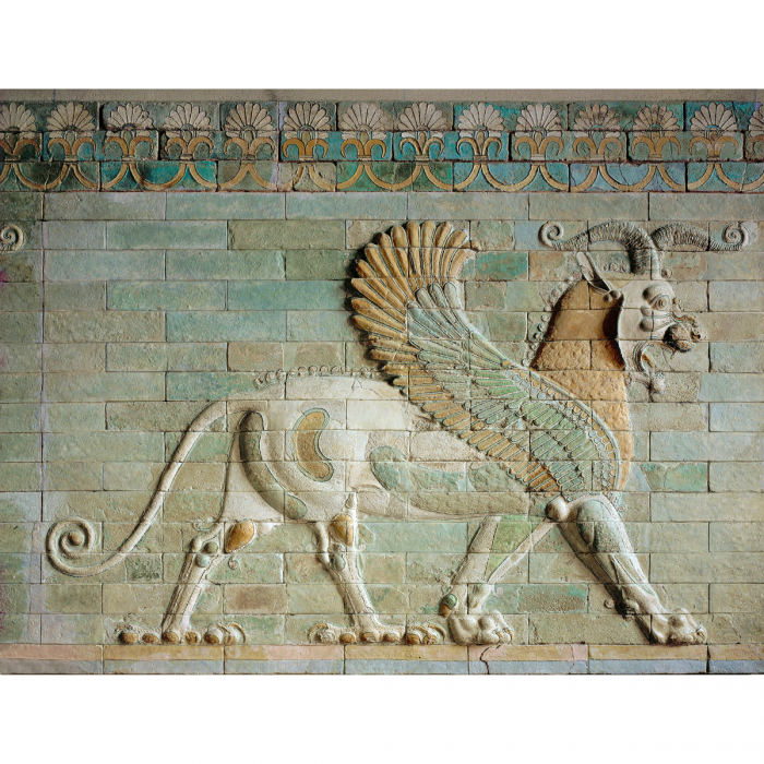 Achaemenian winged lion. Detail from a relief, palace of Darius I, Susa, c.500 BC. Louvre, Paris. (Erich Lessing/akg-images)