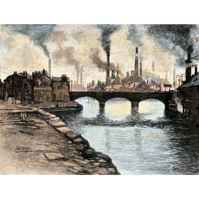 Steel mills during the Industrial Revolution (AKG Images)