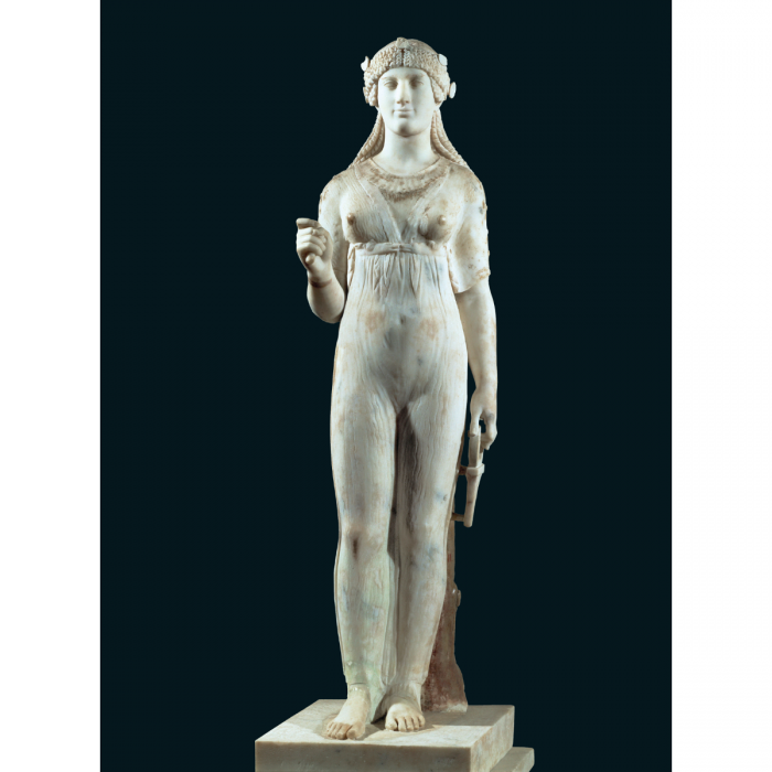 Isis. Marble statue with traces of gold-plating, from the Temple of Isis, Pompeii, first century CE. (Erich Lessing/akg-images)