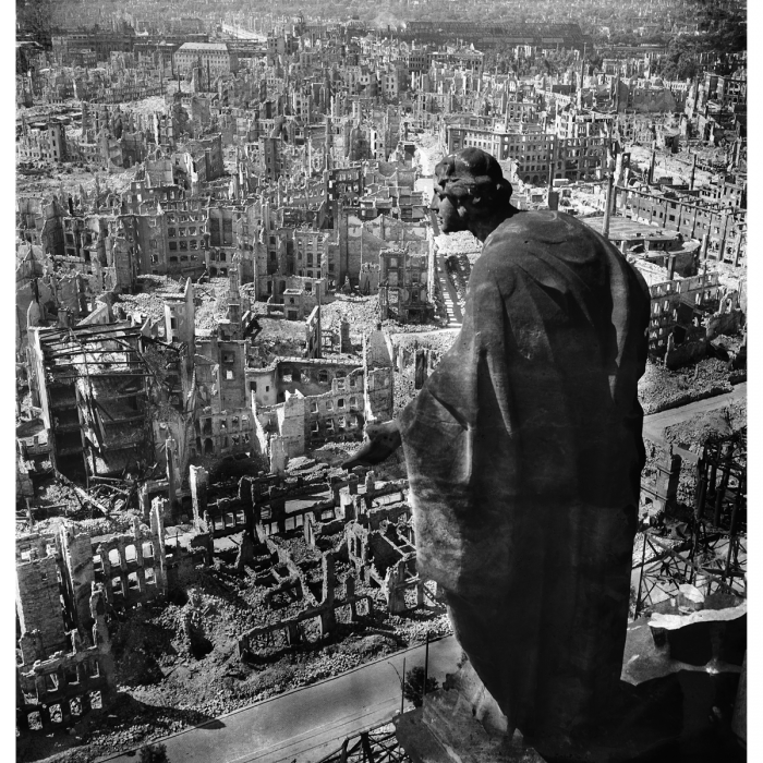 View of Dresden from the town hall. Photograph (detail) by Richard Petersen, 17 September–31 December 1945. (SLUB Dresden/Deutsche Fotothek/Richard Petersen)