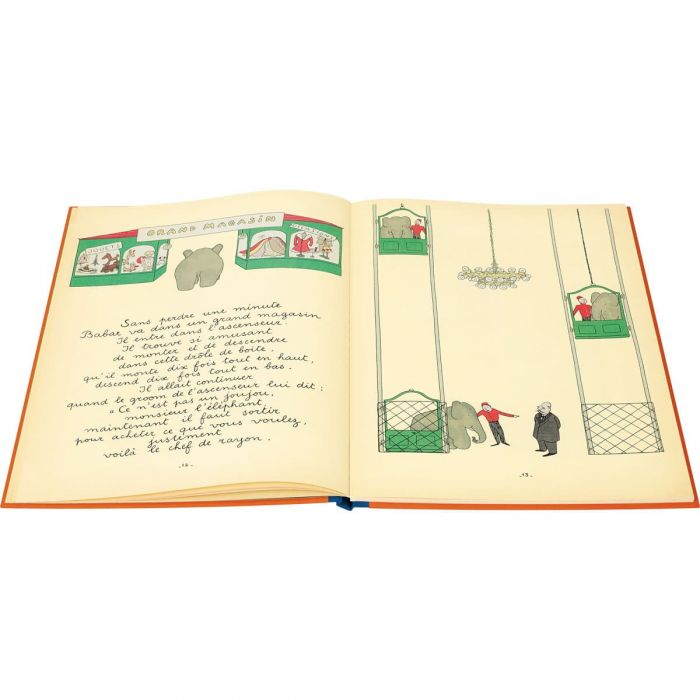 Babar in the Grand Magasin in the facsimile
