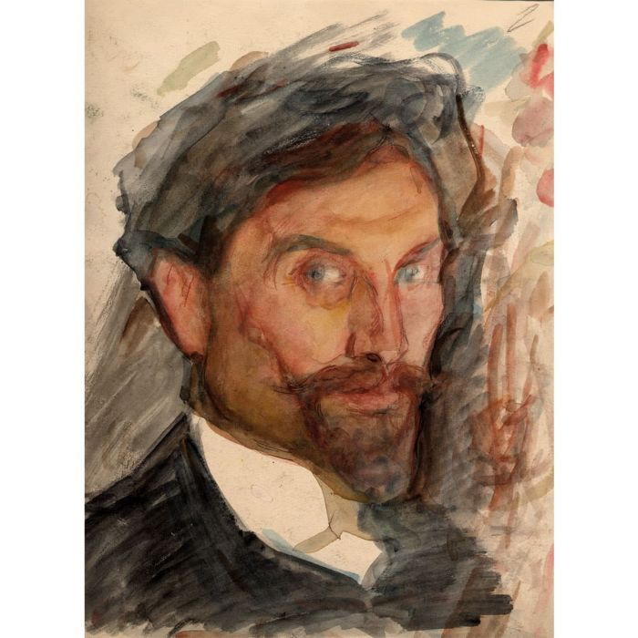 Self-portrait of Leonid Pasternak. Watercolour, 1900