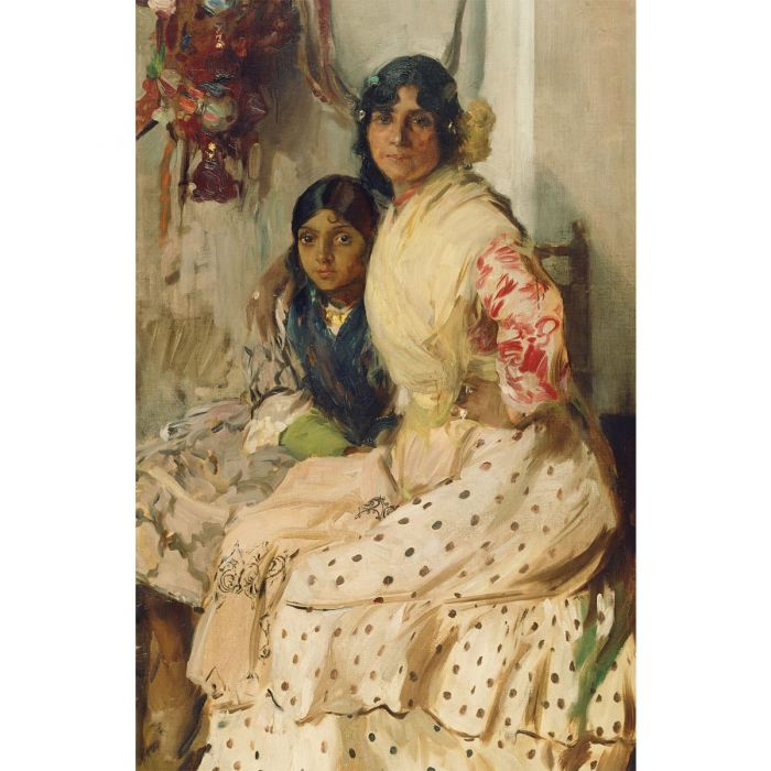 Pepilla the Gypsy and Her Daughter. Oil painting on canvas by Joaquín Sorolla y