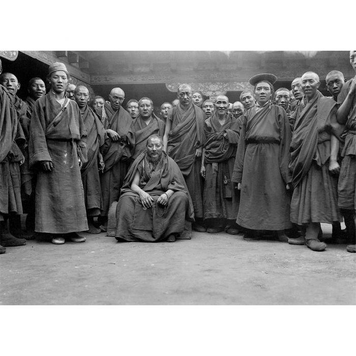 Tibetan Buddhist monks at Shekar Monastery, 1921 Photo: Charles Howard-Bury © RGS-IBG