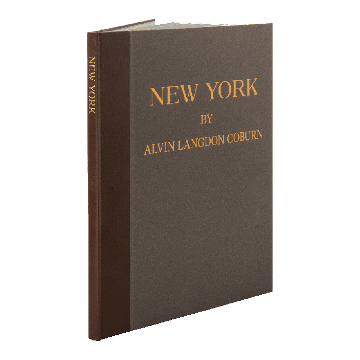 New York quarter-bound in leather with paper sides