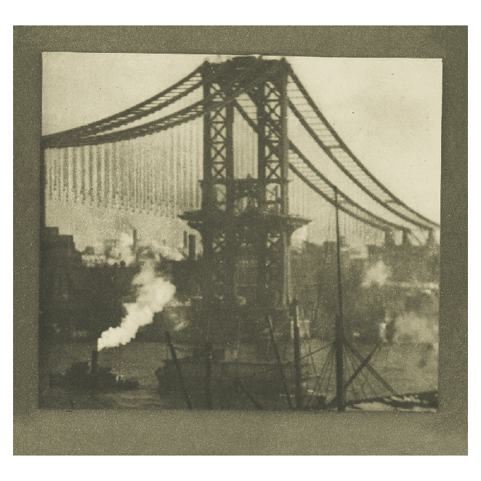 New York: The Unfinished Bridge. The two cities we encounter in Coburn's photographs are pictures of confident, constructive, toiling spaces. From Rut Blees Luxemburg's essay 'Sleeping Lions'