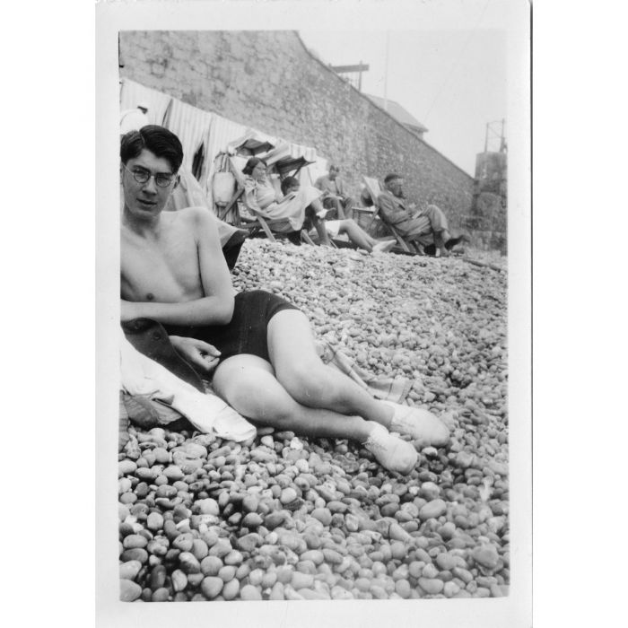 Larkin on a family holiday in Jersey – Summer 1939. Photograph © The Philip Larkin Estate, courtesy of the Hull History Archive