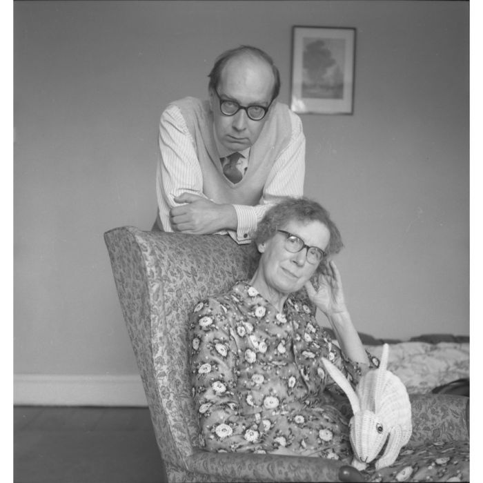 Larkin with his mother, Eva Larkin – 1960s. Photograph © The Philip Larkin Estate, courtesy of the Hull History Archive