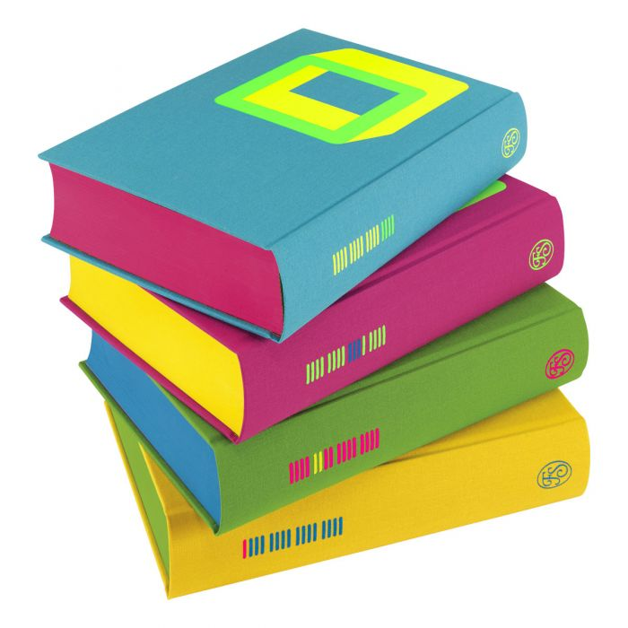 The Complete Short Stories showing the coloured page edges and printed spines