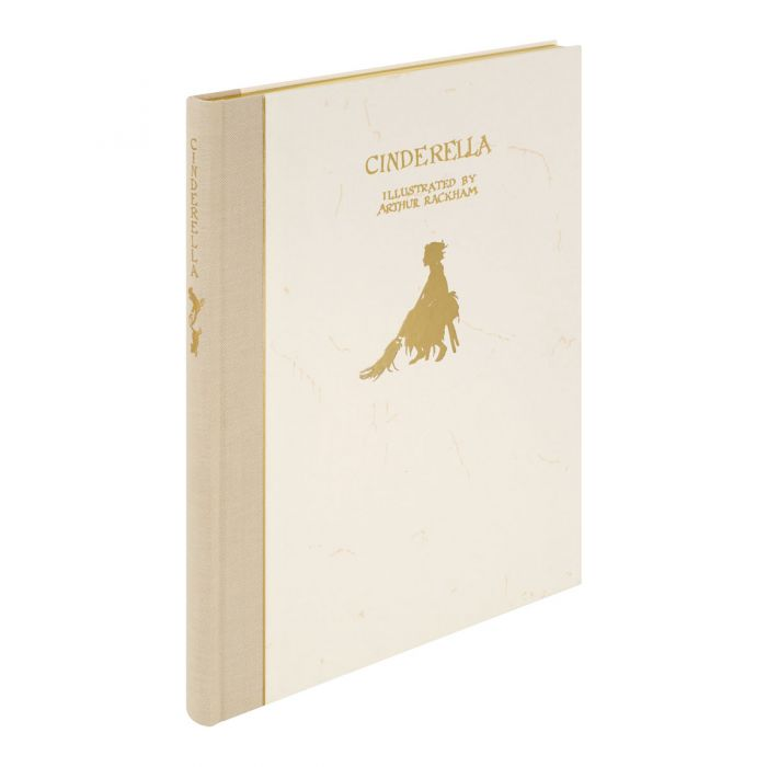 The gold-blocked front and spine and gilded top edge of Cinderella