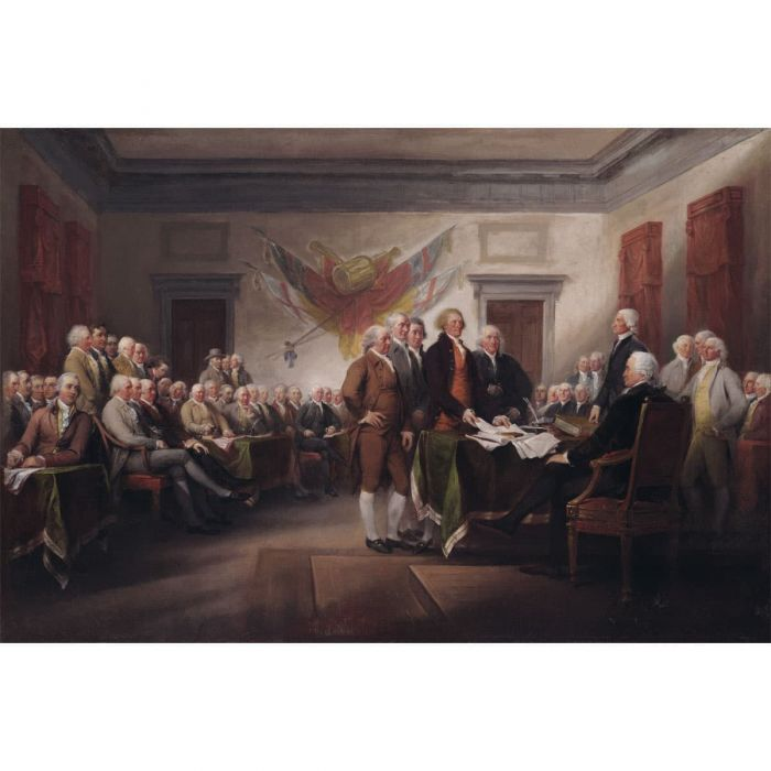 - The Declaration of Independence, July 4, 1776. Oil painting by John Trumbull, 1786–1820. (Yale University Art Gallery)