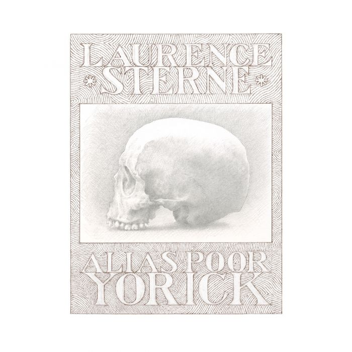 The skull featured in the frontispiece to Volume IX is reputed to be that of Laurence Sterne
