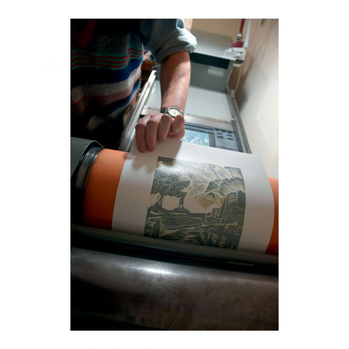 Neil Bousfield printing '1914'