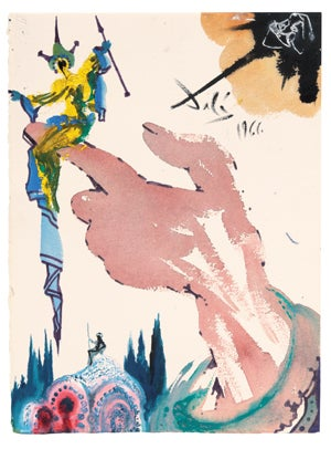 A Salvador Dali illustration for the Folio limited edition