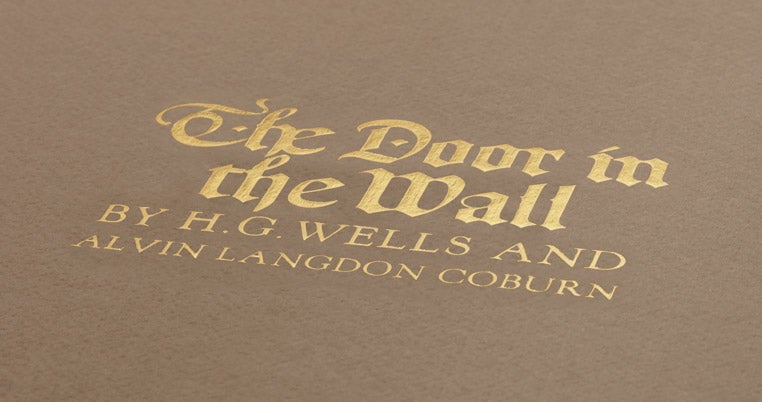 Close up of the title text for The Door in the Wall