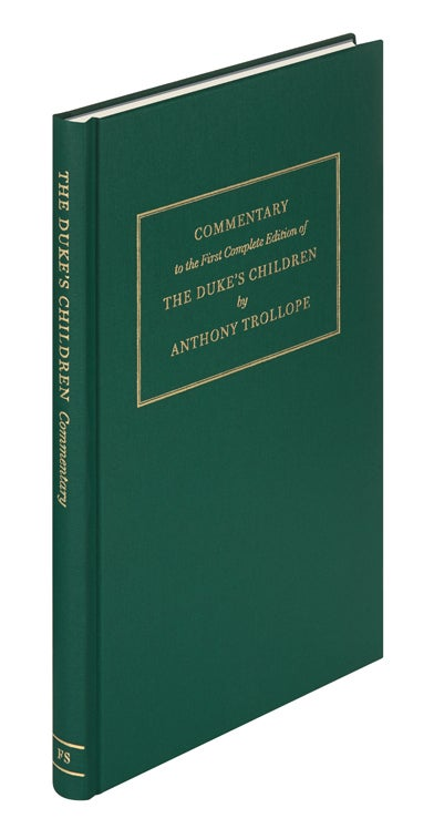 Commentary volume for The Duke's Children, The Folio Society