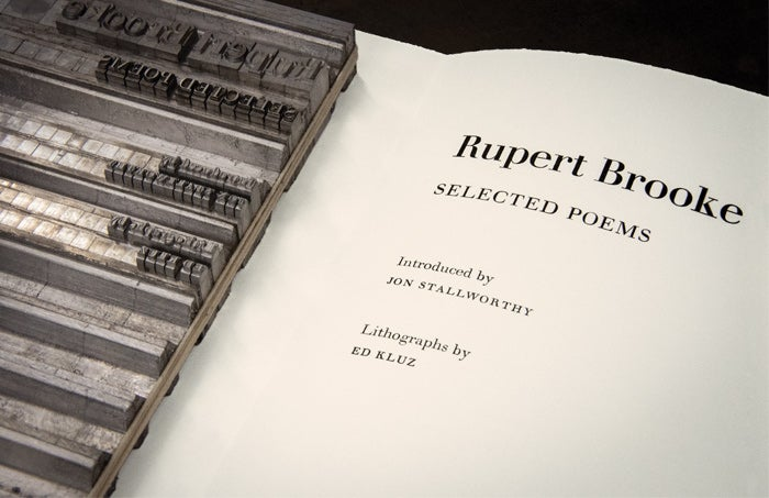 A close-up of Rupert Brooke: Selected Poems from The Folio Society