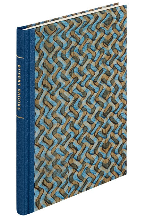 Finished binding for Rupert Brooke: Selected Poems from The Folio Society